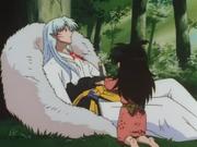 Rin Aiding An Injured Sesshomaru