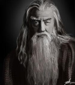 Gandalf portrait by suc of-d5djys2