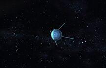 Sputnik in the distance