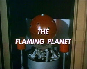 Flaming planet
