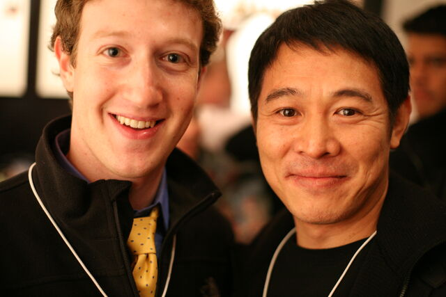 Datei:Mark Zuckerberg, founder Facebook, and Jet Li, famous martial arts star.jpg
