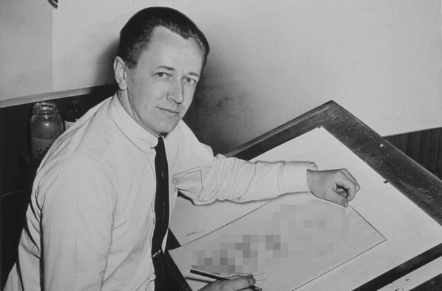 Datei:Charles Schulz NYWTS drawing disguised.jpg