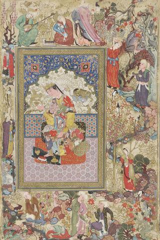 File:Uzbekistan, Seated Princess, by Muhammad-Sharif Musawwir, circa 1600 AD.jpg