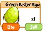Green easter egg
