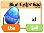 Blue easter egg