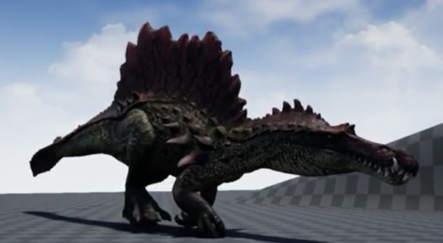 File:Hyperendocrin Spinosaurus 3D Model Crouching The Isle.png