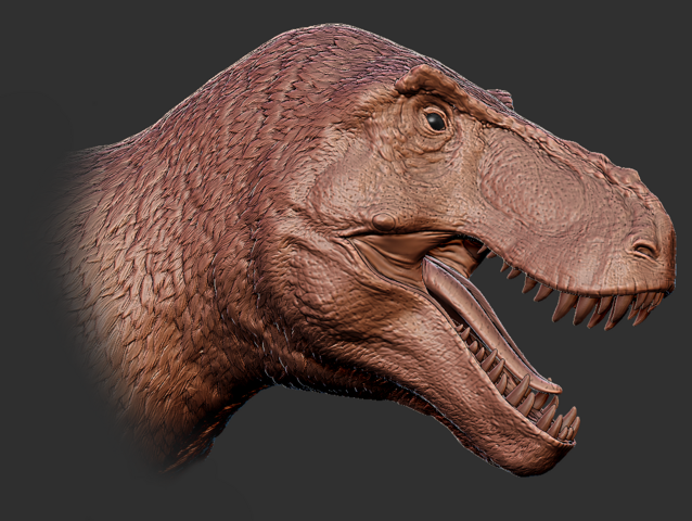 File:Feather Tyrannosaurus Rex Head 3D Model The Isle.png