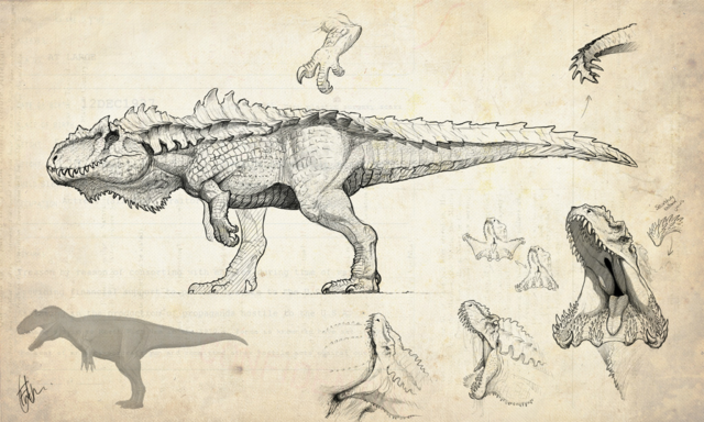 File:Hyperendocrin Giganotosaurus Concept Art The Isle.png