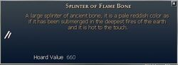 Splinter of Flame Bone