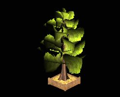 Tree leafy with planter