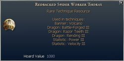 Redbacked Spider Worker Thorax