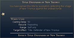 Defender of new trismus