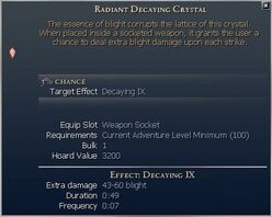 Decaying Crystal