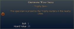 Greymane Wolf Skull