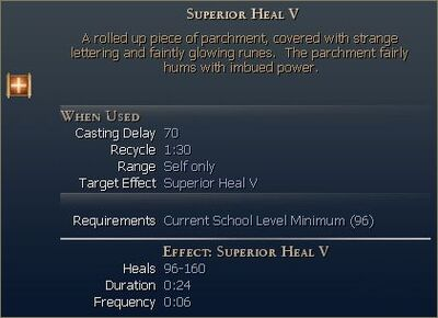 Superior Heal V