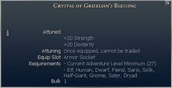 Crystal of Grizelian's Blessing