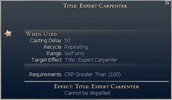 Title Expert Carpenter