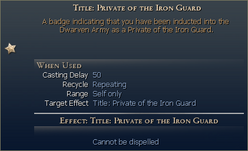 Private of the iron guard