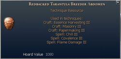 Redbacked Tarantula Breeder Abdomen