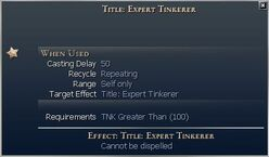 Title Expert Tinkerer