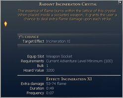 Incineration Crystal