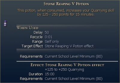 Stone Reaping Potion