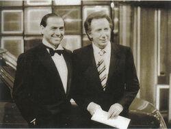 Silvio Berlusconi e Mike Bongiorno anni 80