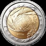 2 € commemorativo Italia 2004