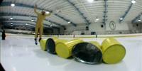 Ice Barrel Jumping