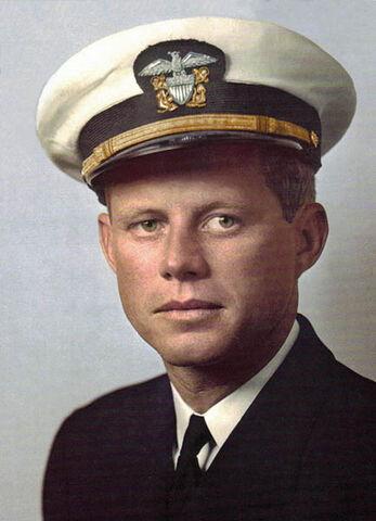 File:John F. Kennedy in uniform.jpg