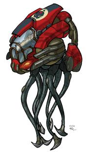 Squid mech concept art