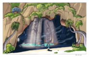 Sentinel Beach grotto concept art