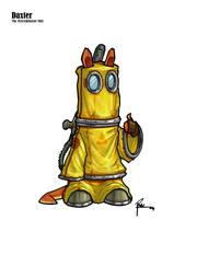 Exterminator suit concept art