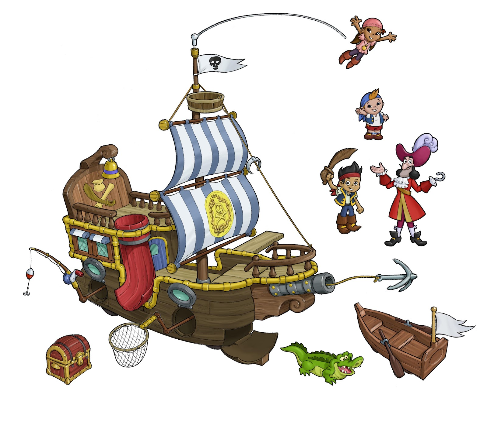 Free coloring pages jake and the neverland pirates - File Fp Brands Jake Bucky Ship Concept Art Jpg