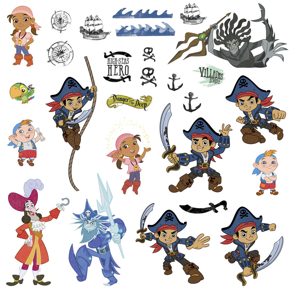 image disney jr captain jake and the neverland pirates wall disney jr captain jake and the neverland pirates wall sticker jpg