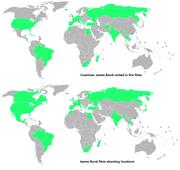 James bond world locations