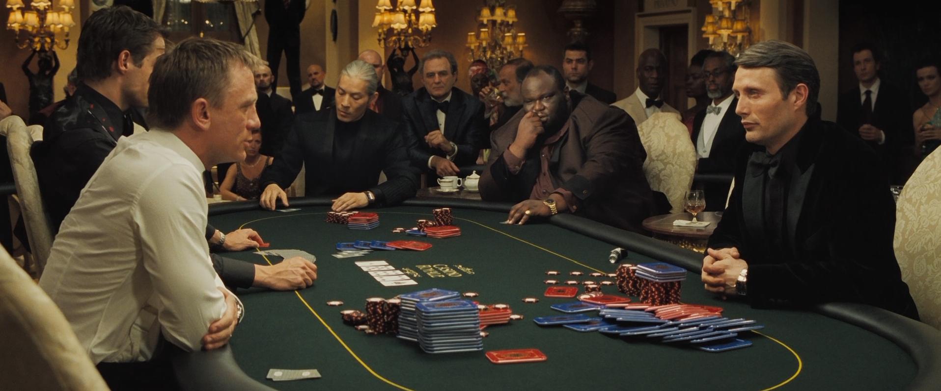 Bond casino royale card game morongo casino resort concert schedule