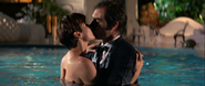 Licence to Kill - Bond and Bouvier kiss