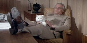 Blofeld and his infamous white cat
