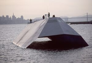 US Navy Sea Shadow stealth craft