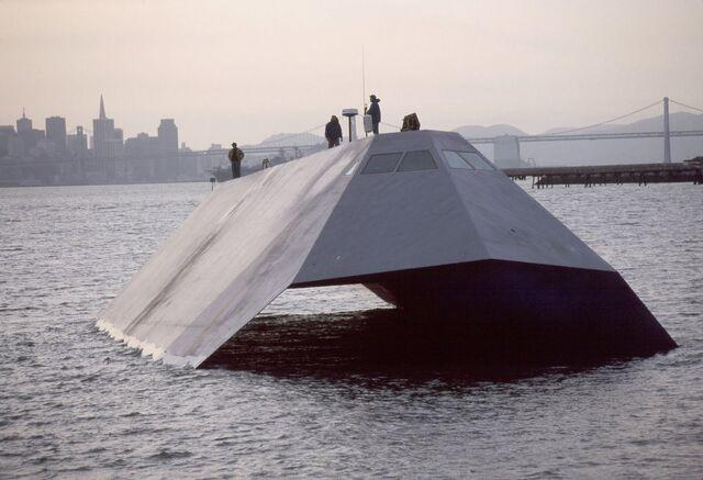 File:US Navy Sea Shadow stealth craft.jpg