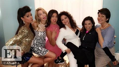 On The 'Jane The Virgin' Set With Gina Rodriguez And Eva Longoria
