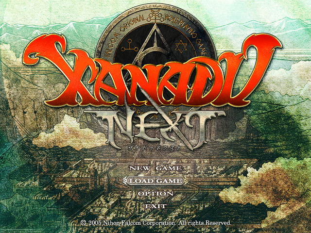 File:Xanadu Next (Title Screen).png