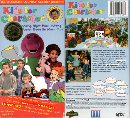File:Kids For Character (Remake) VHS Front and Back.png