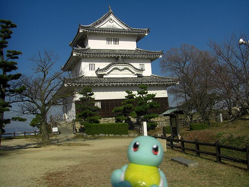 File:Squirtle in Marugame, Kagawa 6 (Marugame Castle).jpg