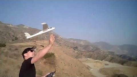 Skyfire Chuck Glider RC Conversion on the Slope