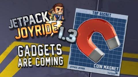 """Jetpack Joyride 1.3 - Gadgets Update """"Coin Magnet"""""""