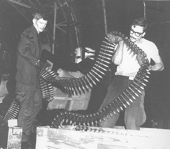 File:AC-130A 20MM Vulcan Cannon Ammo belt.jpg