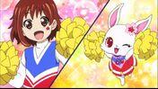 Chiari and Ruby as cheerleaders