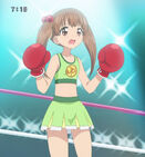 Airi as a boxing fighter